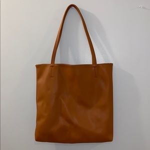 F21 Camel Color Medium-Size Tote Bag